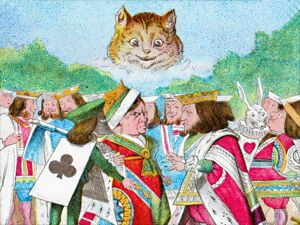 alice wonderland/only cats head appeared c1900 artist unknown