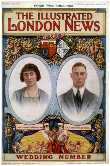 Front cover of The Illustrated London News Wedding Number, 28th April 1923. Artist