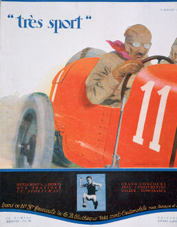 fathers day/cover illustration magazine tres sport july 1922