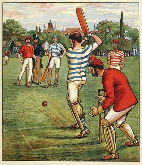 sporty/cricket british sports games pub c 1880 creator