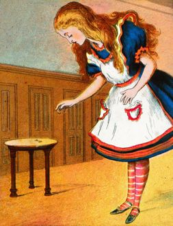 alice wonderland/curiouser curiouser cried alice c1900 artist