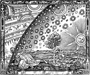 The edge of the firmament (Flammarion engraving) From L'atmosphere