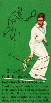 'F. H. D. Wilde - Backhand Half-Volley', c1935. Creator: Unknown