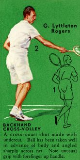 'G. Lyttleton Rogers - Backhand Cross-Volley', c1935. Creator: Unknown