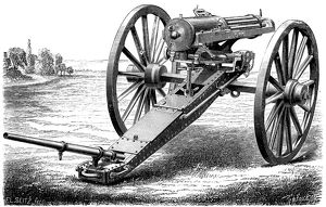 gatling rapid fire gun 1861 1862 1872 artist