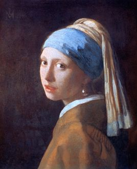 popular art/girl pearl earring c1665 artist jan vermeer