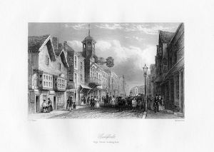 Guildford High Street, Guildford, Surrey, 19th century.Artist: Shury & Son