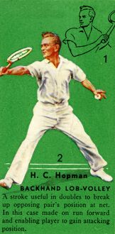 'H. C. Hopman - Backhand Lob-Volley', c1935. Creator: Unknown