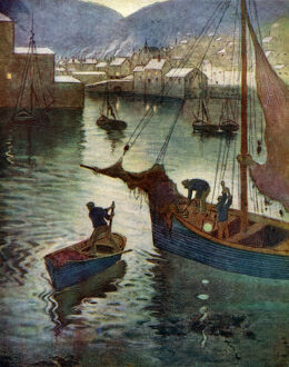 the harbour polperro cornwall 1924 1926 artist
