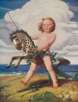 childhood/the hobby horse c1915 1932 artist george