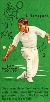 'J. Yamagishi - Low Backhand Volley', c1935. Creator: Unknown