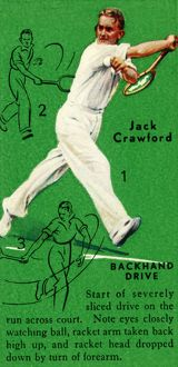'Jack Crawford - Backhand Drive', c1935. Creator: Unknown