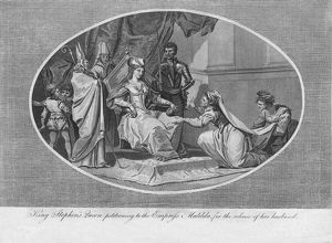 king stephens queen petitioning empress matilda
