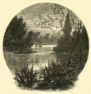 'The Lake, Battersea Park', (c1878). Creator: Unknown
