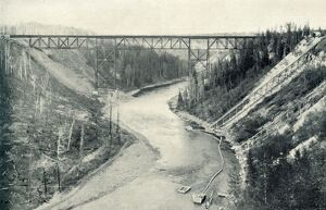'The Loftiest Bridge East of the Rocky Mountains', 1922. Creator: Unknown