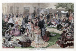 best british/luncheon time grand stand ascot races 1872 artist