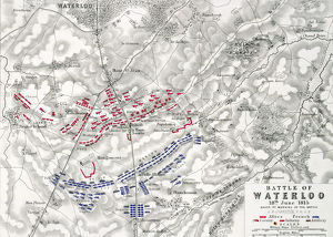 Map of the Battle of Waterloo, 18th June 1815 (19th century)