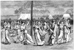 may day festivities 1891 artist unknown