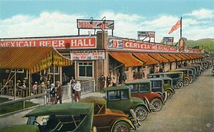 fathers day/mexicali beer hall longest bar world c1939 artist