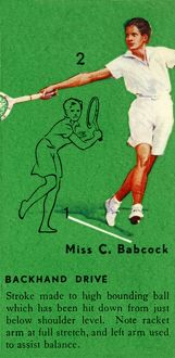 'Miss C. Babcock - Backhand Drive', c1935. Creator: Unknown