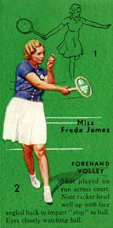 'Miss Freda James - Forehand Volley', c1935. Creator: Unknown