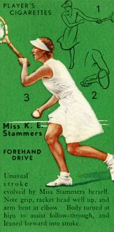 'Miss K. E. Stammers - Forehand Drive', c1935. Creator: Unknown