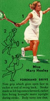 'Miss Mary Heeley - Forehand Drive', c1935. Creator: Unknown
