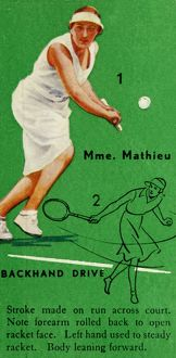 'Mme. Mathieu - Backhand Drive', c1935. Creator: Unknown