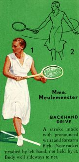 'Mme. Meulemeester - Backhand Drive', c1935. Creator: Unknown