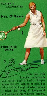 'Mrs. O'Meara - Forehand Drive', c1935. Creator: Unknown