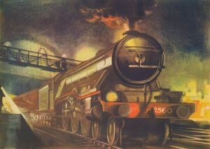 fathers day/the night scotsman lner leaving kings cross