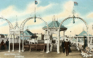 On the Palace Pier, Brighton, Sussex, c1900s(?). Artist: Unknown