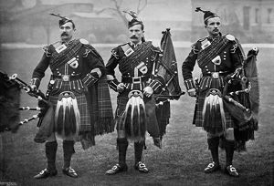 best british/pipers 1st scots guards 1896artist gregory