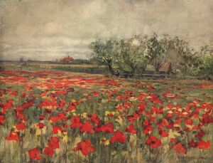landscapes/the poppy field c1900 c1915 artist george