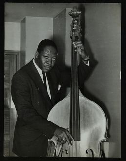 jazz/portrait american double bass player curtis counce