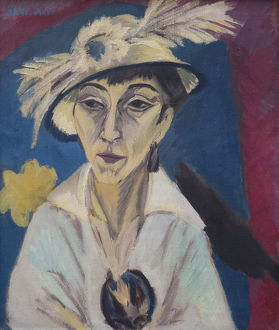 Portrait of Erna Schilling (Lady with Hat), 1913