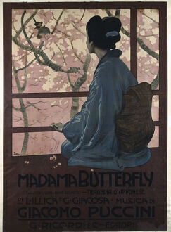 Poster for the Opera Madama Butterfly by G. Puccini.