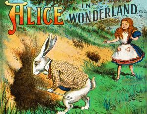 alice wonderland/down rabbit hole c1900 artist unknown