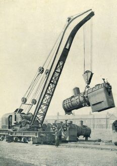 'A Railway Travelling Crane', 1922. Creator: Unknown