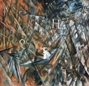 rayonist composition idleness shadow 1914 artist