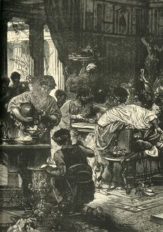 a roman banquet 1890 creator unknown