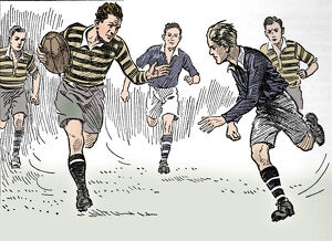 best british/rugby football 1937 artist unknown