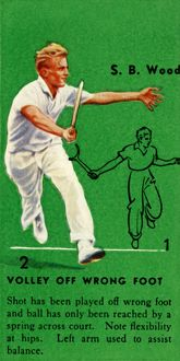 'S. B. Wood - Volley Off Wrong Foot', c1935. Creator: Unknown