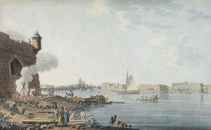 Saint Petersburg. View from the Peter and Paul Fortress on the Summer Garden, 1806