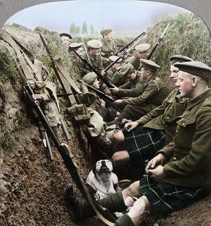 best british/section seaforth highlanders snatching moments respite