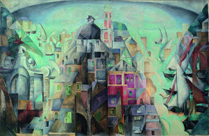 synthetic view city diepe 1912 1913 artist exter