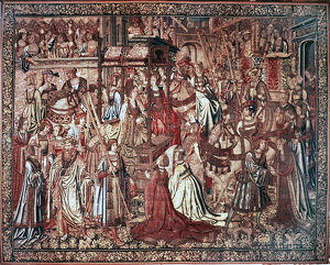 'The Triumph of Beatrice', tapestry, Flanders, Brussels, early 16th century