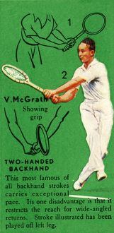 'V. McGrath - Two-Handed Backhand', c1935. Creator: Unknown