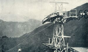 'A View on a Rope Railway, or Ropeway', 1922. Creator: Unknown