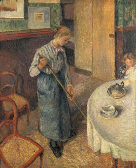 impressionism/the young servant 1882 artist camille